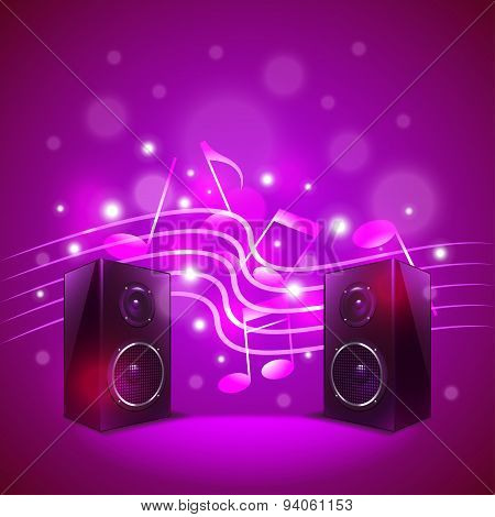 Speakers On Colorful Blur Background Vector