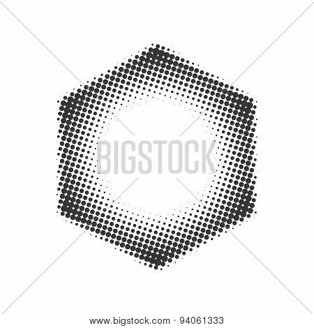Hexagon halftone