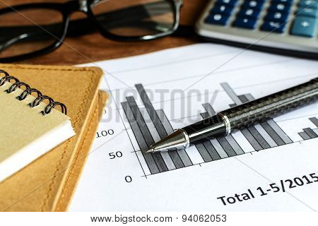 Desk Office Business Financial Accounting