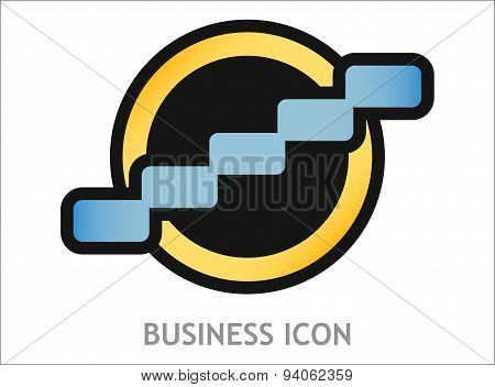 Business Icon With Graph