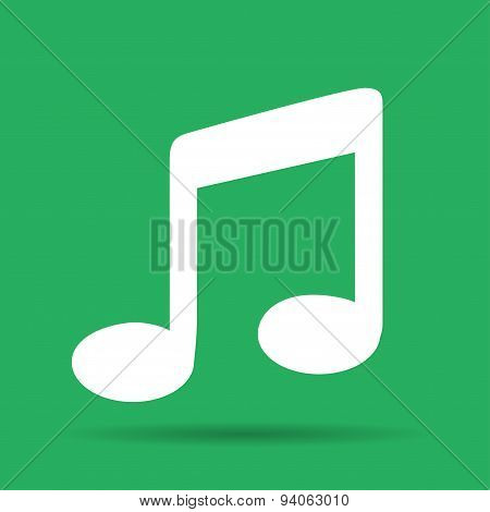 Music Flat Simple Icon, Isolated.