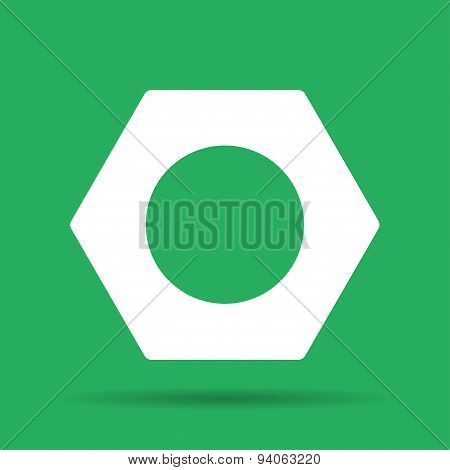 Vector Nut Flat Icon