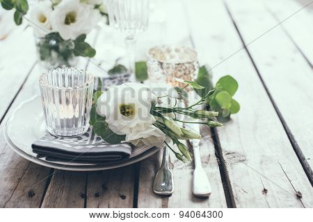 summer wedding table decoration