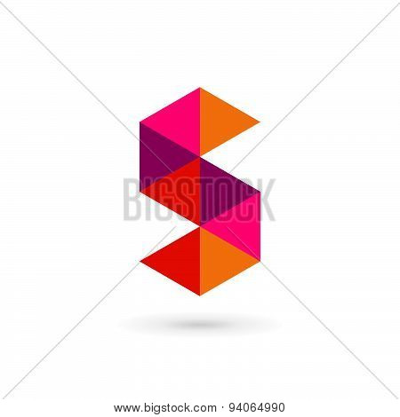 Letter S Number 5 Mosaic Logo Icon Design Template Elements