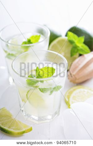 Lime mojito lemonade ice cold freshly made