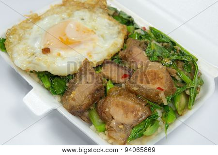 Thai Food - Kana Moo Grob (packed Lunch)