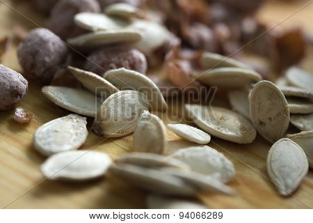 Salted Nut Mix Background