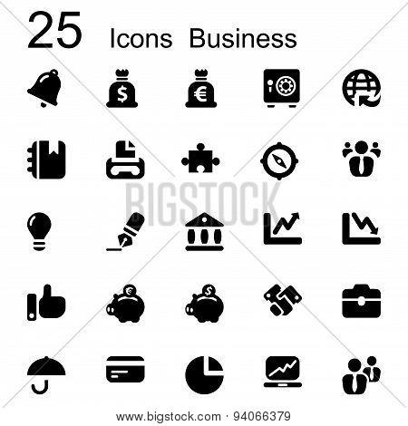 25 Basic Iconset Business
