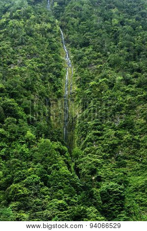 Waterfalls on the north coast of Madeira, Portugal, Europe