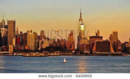 New York Skyline across the Hudson River