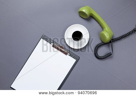 Board And Handset With Coffee