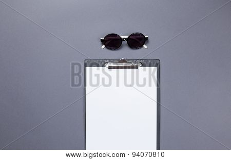 Glasses And Business Board