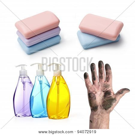 Dirty Hand And Soap