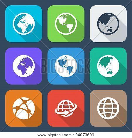 Flat World Icons