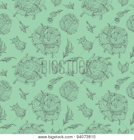 Green Provence Vector Pattern