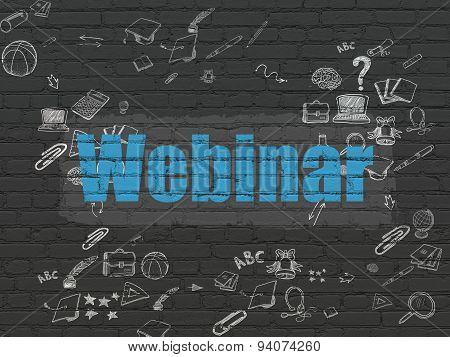 Education concept: Webinar on wall background