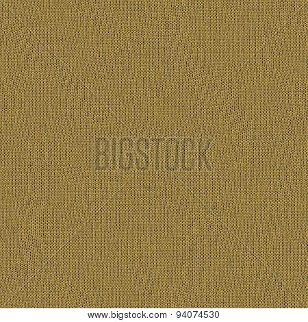 Seamless Mimosa Color Of The Year 2009 Knitted Wool Texture For Textile Background