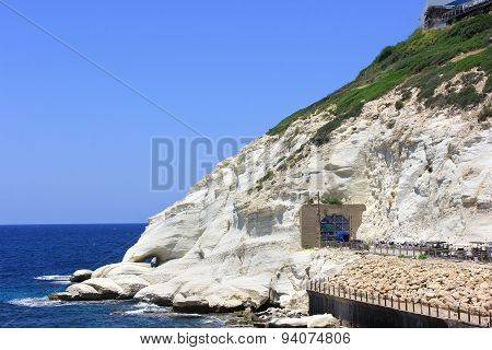 Nature Reserve Rosh Hanikra Is A Geologic Formation In Israel
