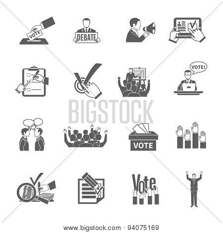 Election Icons Set