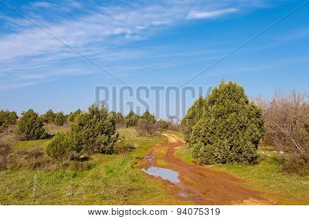 Beautiful Dirt Road On Mountain Of Gasfort.
