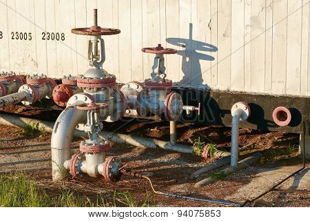 Oil Pipeline With The Tap Valve