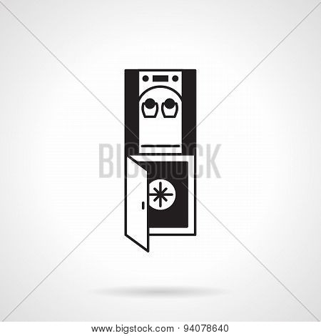 Water dispenser black vector icon