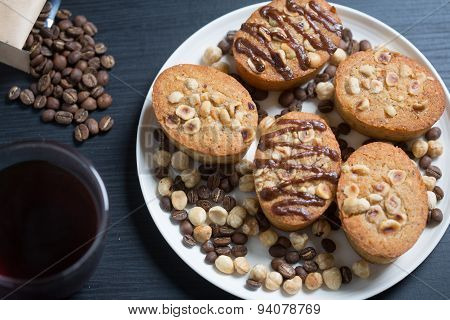 Freshly Baled Hazelnut And Coffee Cakes