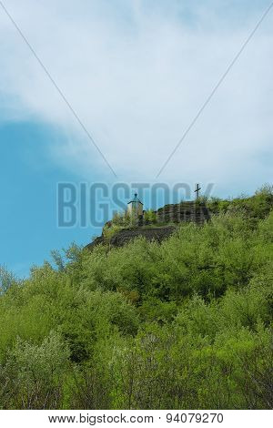 Orthodox Chapel On The Mountain Top