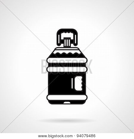 Black big plastic bottle vector icon