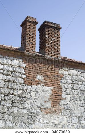 Two Chimneys On Old House, Bulgaria