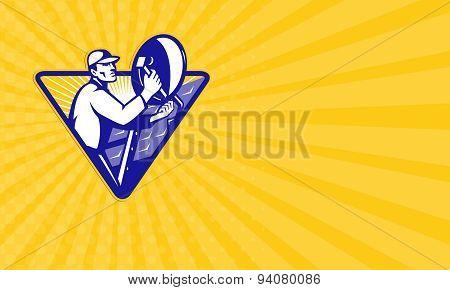 Business Card Tv Satellite Dish Installer