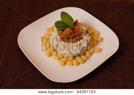 Gnocchi And Spinach.