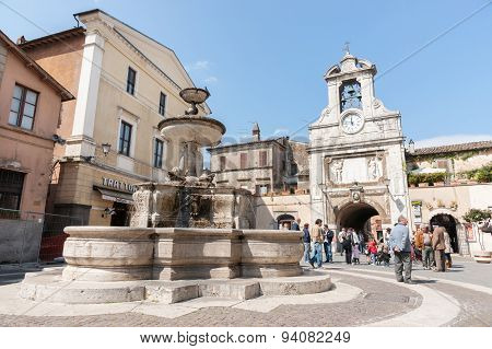 Typical Old Town Square, Italy.