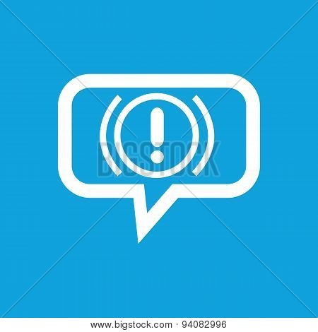 Alert sign message icon