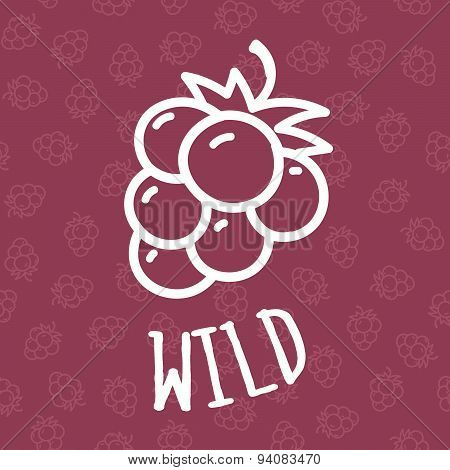 Seamless Background With Raspberry Illustration.