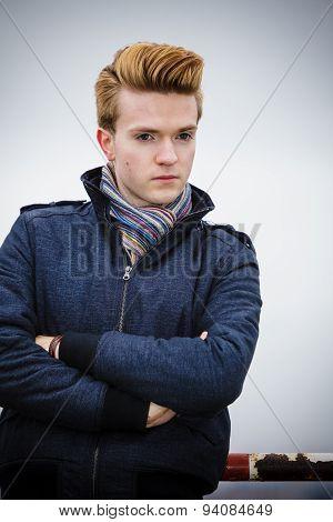 Fashion Model Guy Portrait Outdoors