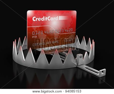 Trap and Credit Card (clipping path included)