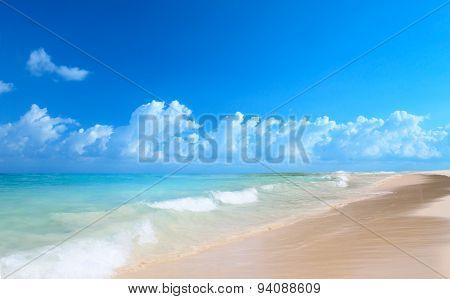 Art Beautiful Beach And Tropical Sea