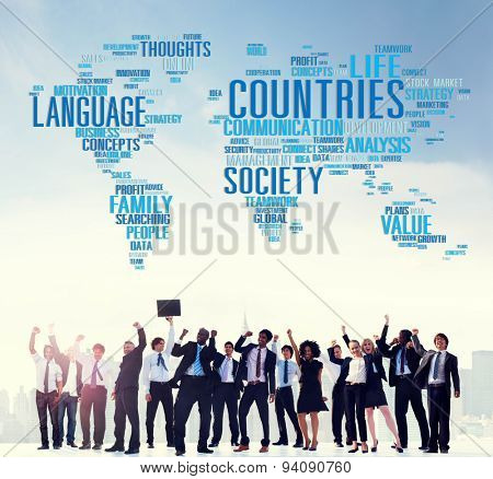 Countries International Diversity Language Society Concept