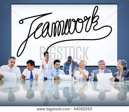 Teamwork Team Collaboration Support Member Unity Concept