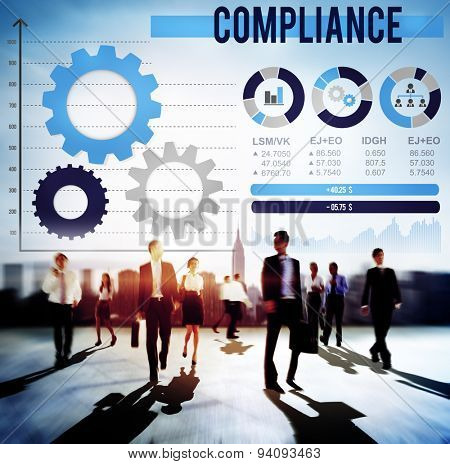 Compliance Accept Collaboration Growth Analysis Concept