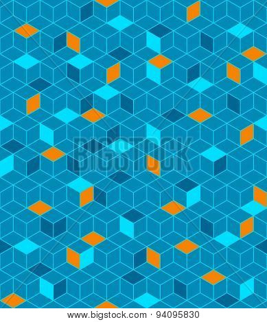 Abstract color cubes seamless pattern