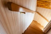 foto of chalet  - wooden interior staircase of a chalet or cottage in austria