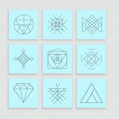 stock photo of illuminati  - Set of geometric shapes - JPG