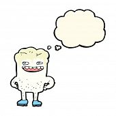 picture of bad teeth  - cartoon bad tooth with thought bubble - JPG