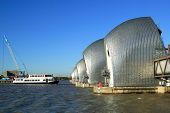 picture of safety barrier  - The Thames Barrier at Greenwich - JPG