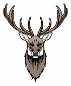 stock photo of deer head  - Stylized deer head on the white background - JPG