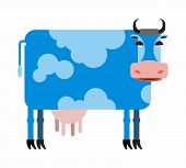 pic of blue animal  - Blue cow  white background - JPG