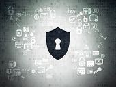 stock photo of keyholes  - Privacy concept - JPG