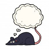 pic of rats  - cartoon black rat with thought bubble - JPG